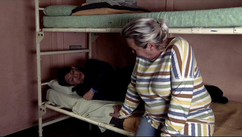 <p>Lucie doesn't want Yasmeen to go back to Geoff.</p>