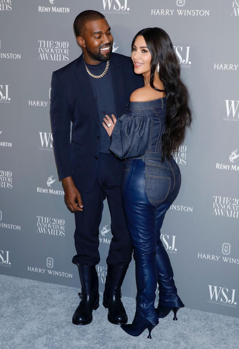 Kanye West and Kim Kardashian (Photo: Gregory Pace/Shutterstock)