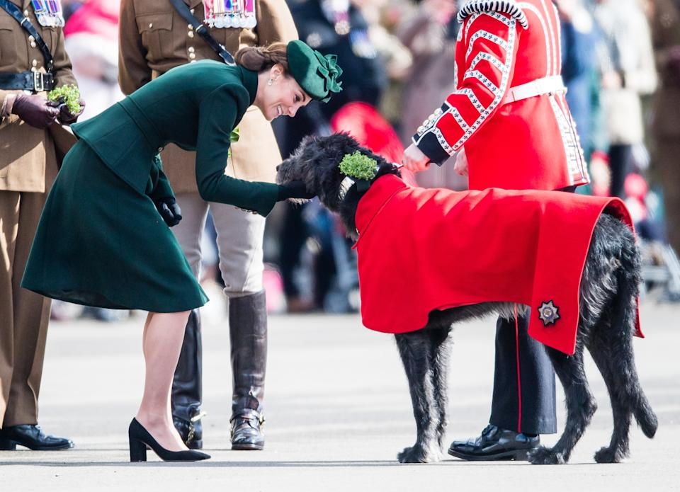 """<h1 class=""""title"""">The Duke And Duchess Of Cambridge Attend The Irish Guards St Patrick's Day Parade</h1><cite class=""""credit"""">Getty</cite>"""