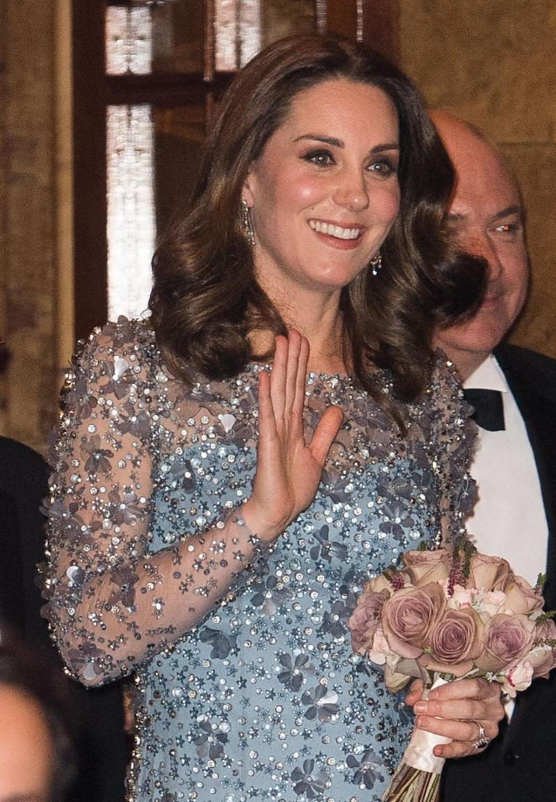 Kate dazzled in a sequin-embellished Jenny Packham gown. Photo: Getty