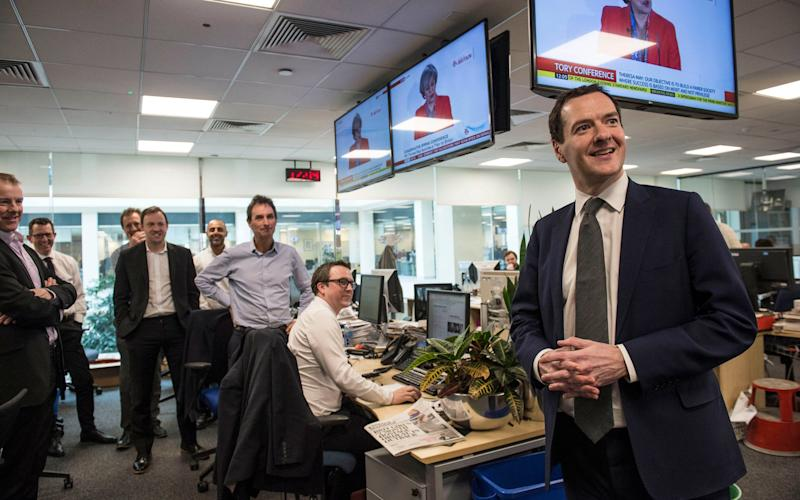 George Osborne has been announced as the new editor of the Evening Standard. - Credit: Evening Standard / eyevine/Lucy Young