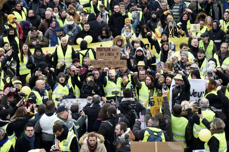 'Yellow vest' protests against Macron were initially triggered by a new tax on polluting cars and diesel