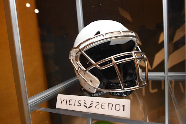 VICIS, which makes the acclaimed Zero1 helmet, is running out of money. (Chris Williams/Icon Sportswire via Getty Images)