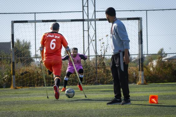 Gaza's amputee football teams lack funding and sponsorship, which the organisers hope will change soon (Bel Trew)
