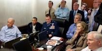 In this handout image provided by The White House, US President Barack Obama, Vice President Joe Biden, Secretary of State Hillary Clinton and members of the national security team receive an update on the mission against Osama bin Laden in the Situation Room of the White House on May 1, 2011 in Washington, DC. Obama later announced that the United States had killed Bin Laden in an operation led by US Special Forces at a compound in Abbottabad, Pakistan. Photo: Pete Souza/The White House via Getty Images