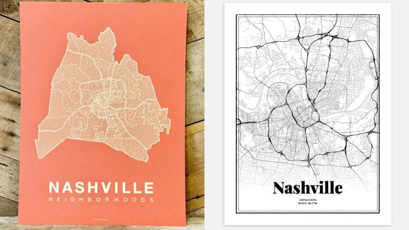 The Tennessean / Reviewed 2019 gift guide: Nashville Wall Maps