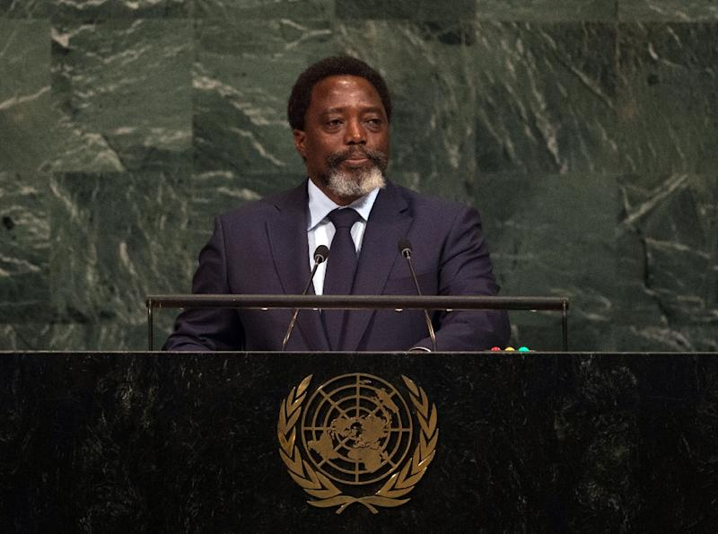 Kabila, seen here at the UN last September, has been in power since 2001. Under the constitution, his final term in office expired at the end of 2016 -- he has invoked a clause entitling him to stay on until his successor is elected