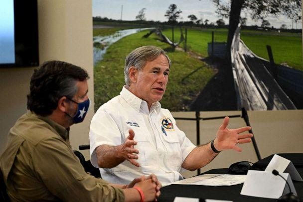 PHOTO: Texas Governor Greg Abbott attends a briefing in Orange, Texas, Aug. 29, 2020. (Roberto Schmidt/AFP via Getty Images, FILE)