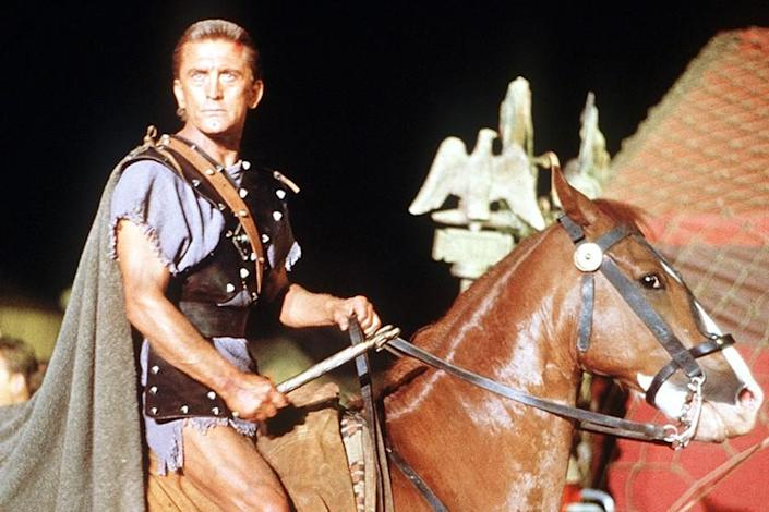 "Kirk Douglas in the 1960 epic ""Spartacus"" on TCM. <span class=""copyright"">(Universal Studios)</span>"
