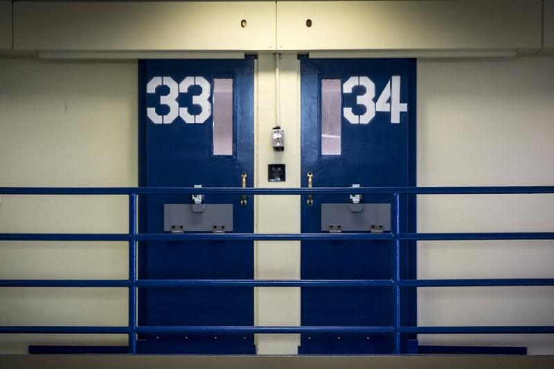 Jail cells in a file photo