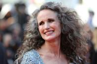 Andie MacDowell and her natural mane