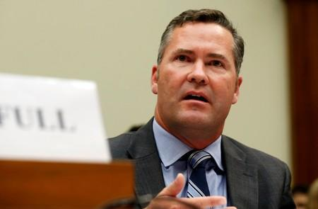 FILE PHOTO: Michael Waltz testifies about his leading a military team and their search efforts for missing soldier Bergdahl, while at a House Foreign Affairs Middle East and North Africa Subcommittee on Capitol Hill in Washington