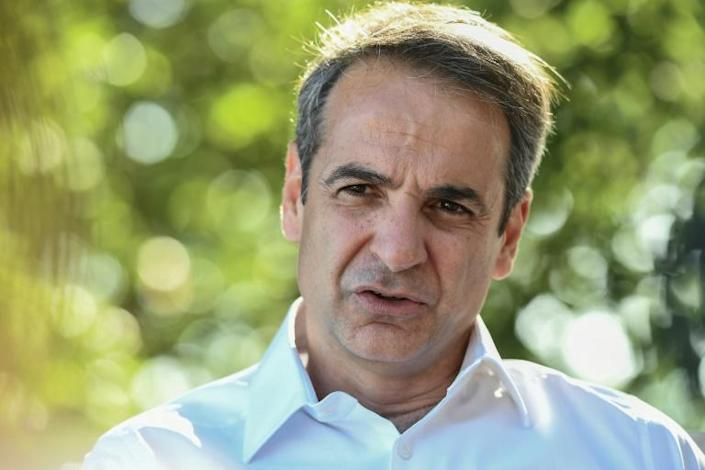 'I hope I will have a clear mandate to transform the country', Mitsotakis told AFP (AFP Photo/ARIS MESSINIS)