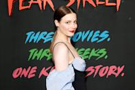 <p>Gillian Jacobs strikes a pose at the L.A. premiere of <i>Fear Street Part 3: 1666 </i>on July 14</p>