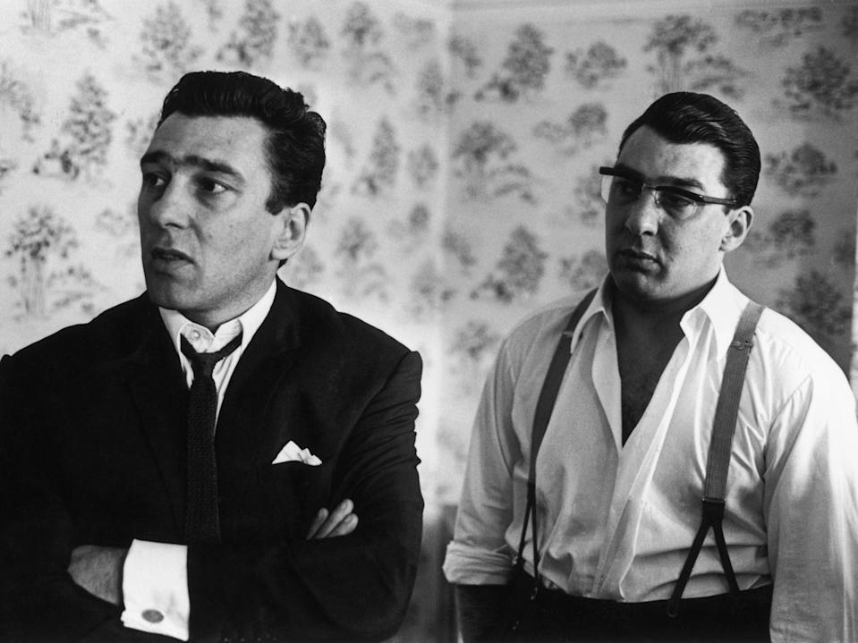 <p>Reggie (left) and Ronnie Kray</p> (Getty)