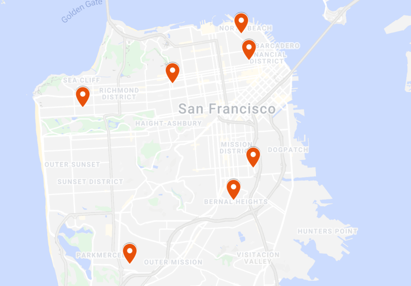 SF Neighborhood Centers locations throughout the city.