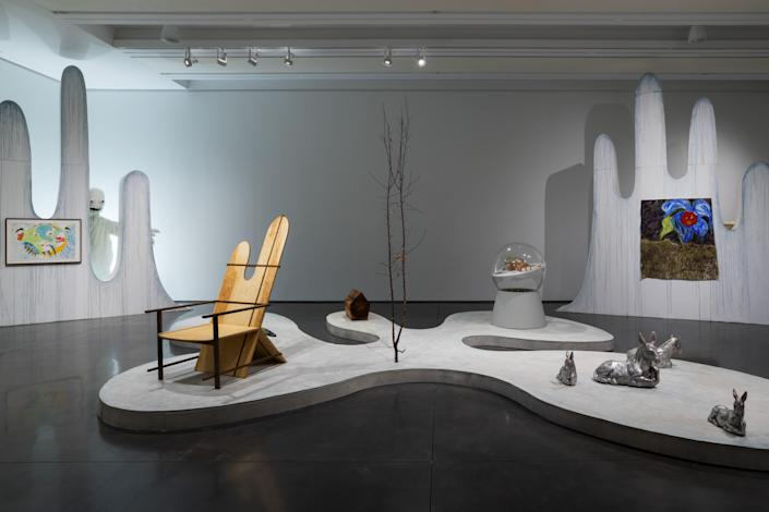 A view into Winterfest, an ongoing exhibition of Arts and Crafts at the Aspen Art Museum.