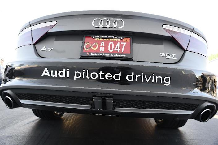 Audi's autonomous A7 concept car, photographed on January 6, 2015, was navigated 550 miles (900 kilometers) to Las Vegas for the Consumer Electronics Show (AFP Photo/Robyn Beck)