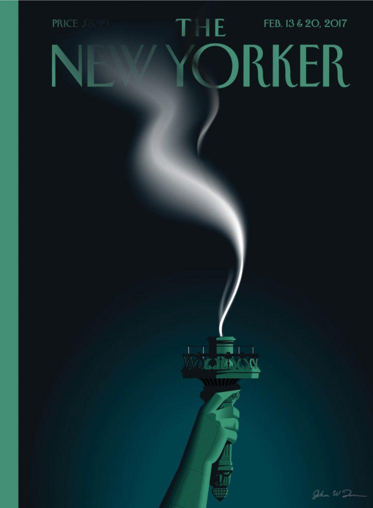"""The New Yorker's Feb. 13 and 20 issue will feature the image """"Liberty's Flameout."""" (Photo: John W. Tomac/The New Yorker)"""