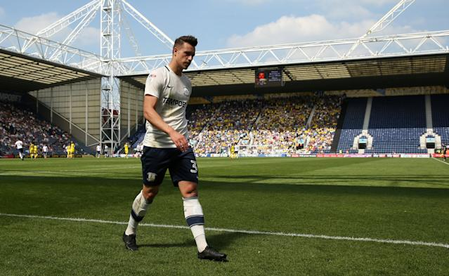 "Soccer Football - Championship - Preston North End vs Burton Albion - Deepdale, Preston, Britain - May 6, 2018 Preston North End's Billy Bodin walks off the pitch after receiving his second yellow card Action Images/Jason Cairnduff EDITORIAL USE ONLY. No use with unauthorized audio, video, data, fixture lists, club/league logos or ""live"" services. Online in-match use limited to 75 images, no video emulation. No use in betting, games or single club/league/player publications. Please contact your account representative for further details."