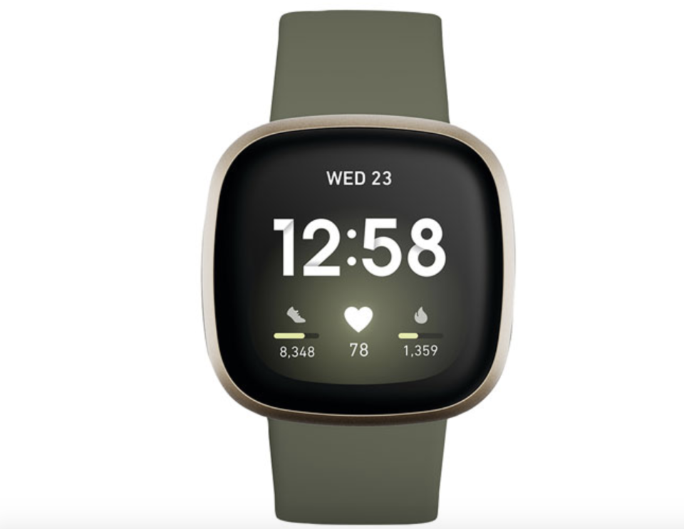 Fitbit Versa 3 Smartwatch with Voice Assistant, GPS & 24/7 HR - Olive Green - Exclusive Retail Partner