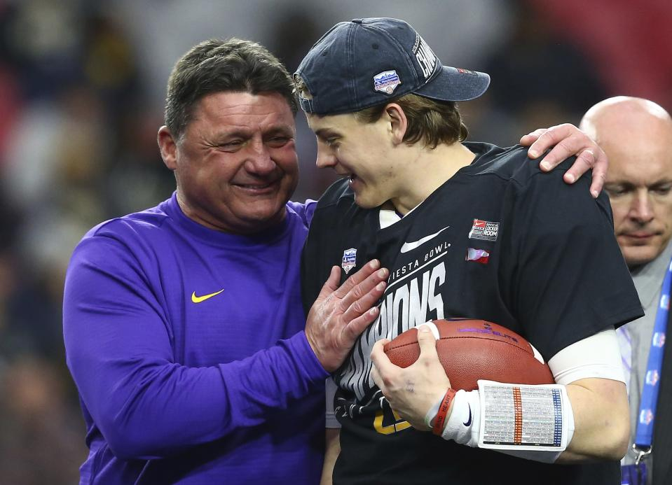 LSU snapped UCF's 25-game win streak in the Fiesta Bowl. (AP Photo/Ross D. Franklin)
