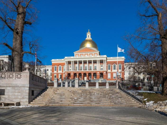 """<p>On the 20th anniversary of Independence Day, Founding Fathers Paul Revere and Samuel Adams laid the cornerstone for the Massachusetts State House in Boston. <a href=""""https://www.history.com/news/contents-of-boston-time-capsule-buried-by-samuel-adams-and-paul-revere-unveiled"""" rel=""""nofollow noopener"""" target=""""_blank"""" data-ylk=""""slk:Revere and Adams also decided to bury a copper time capsule"""" class=""""link rapid-noclick-resp"""">Revere and Adams also decided to bury a copper time capsule</a> beneath the cornerstone, according to the History Channel, and it was finally unburied by state officials in 2014. The time capsule's contents included newspapers, coins, a silver plate, and a copper medal engraved with George Washington's image. <br></p>"""