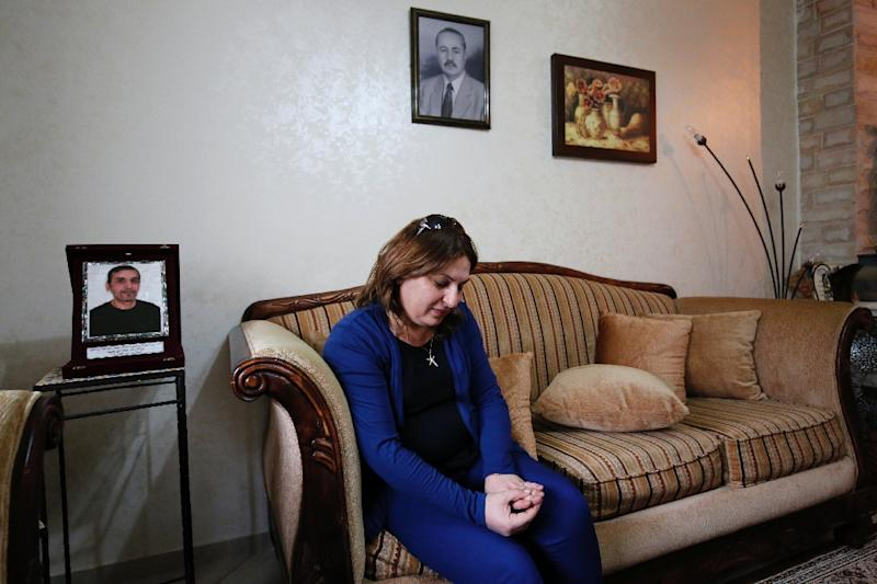 Wafa Abu Golmi pictured at her home in the West Bank city of Ramallah (AFP Photo/Abbas Momani)