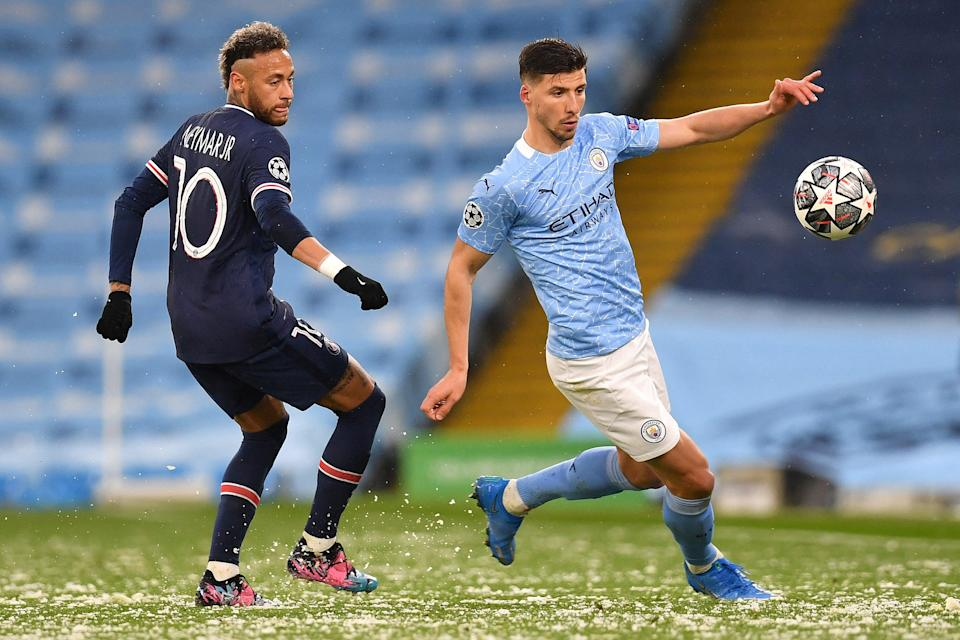 Ruben Dias was exceptional in the Man City defenceAFP via Getty Images