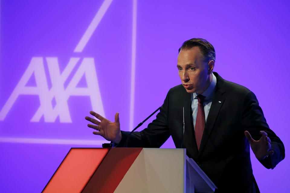 Thomas Buberl, Chief Executive Officer of French insurer AXA, speaks during the company's 2017 annual results presentation in Paris, France, February 22, 2018.  REUTERS/Pascal Rossignol