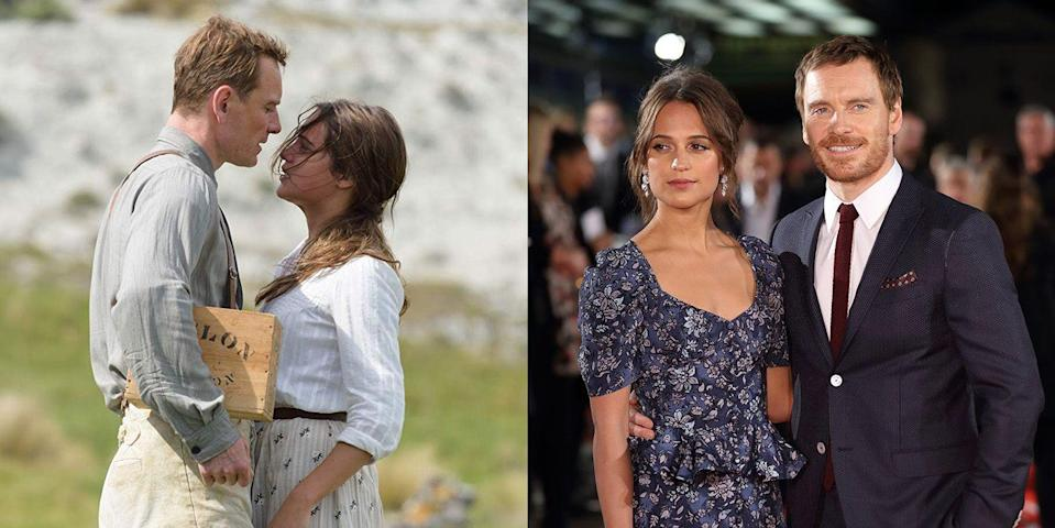 <p><strong>The movie: </strong><em>The Light Between Oceans </em>(2016)</p><p>The super private couple met on set in 2014 and were married in 2017. Even though they've been highly private and not much is known about their courtship, all fans need to do is watch the movie they fell in love on to see the sparks fly.</p>