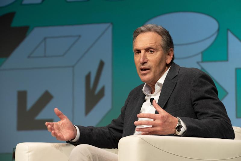 Seattle-based billionaire Howard Schultz has not donated any of his personal fortune toward efforts to address the COVID-19 pandemic. (Photo: Jim Bennett via Getty Images)