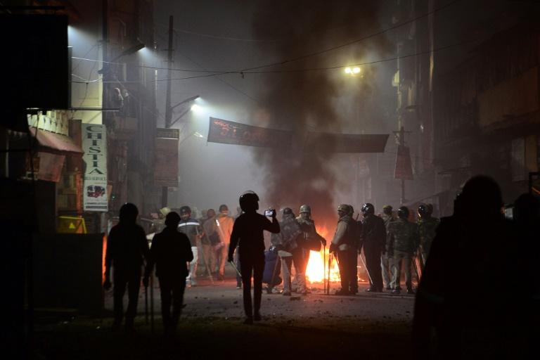Angry protests against the citizenship law raged into the night in Kanpur, in the northern Indian state of Uttar Pradesh (AFP Photo/STR)