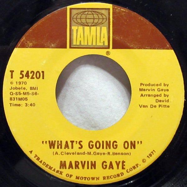 """What's Going On"" vinyl 45"