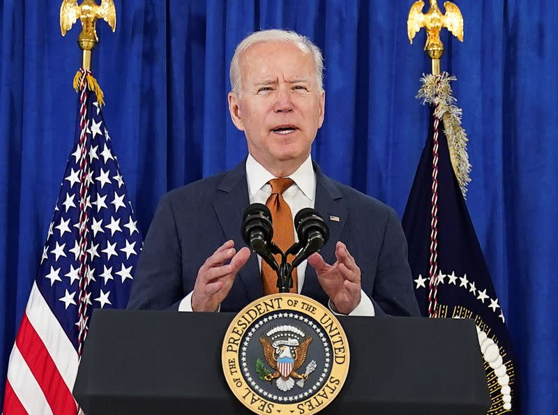 U.S. President Biden comments on the May jobs report prior to departing Rehoboth Beach, Delaware