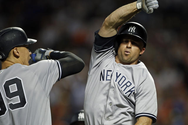 Brett Gardner is on-pace to be a top 25 Yankee by Wins Above Replacement. (AP)