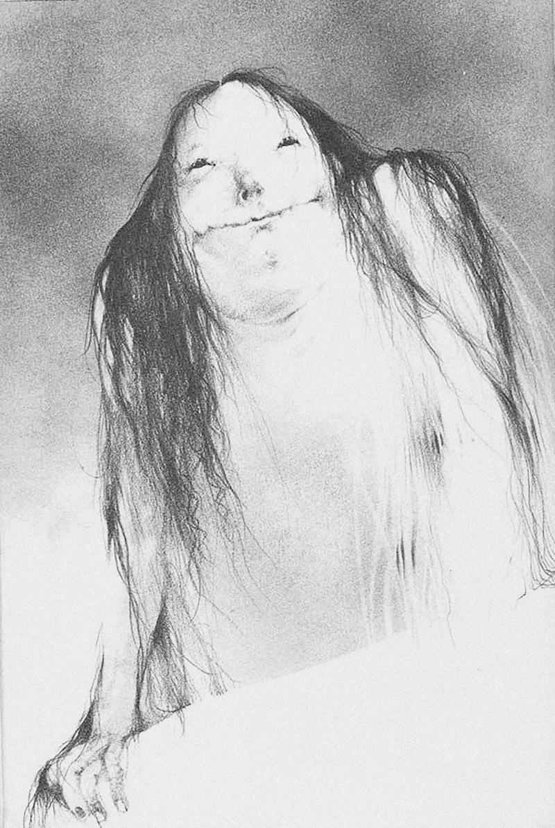 The Pale Lady as she appeared in the original 'Scary Stories' book, illustrated by Stephen Gammell (Photo: Harper Collins)