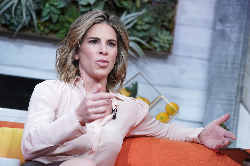"""Jillian Michaels visits BuzzFeed's """"AM To DM"""" on January 08, 2020 in New York City."""