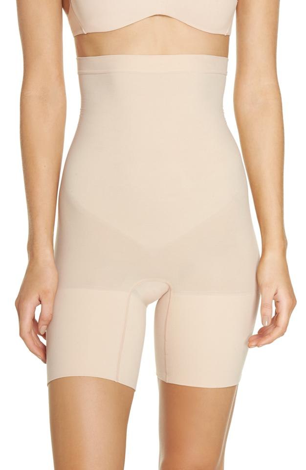 """<p><strong>SPANX</strong></p><p>nordstrom.com</p><p><strong>$24.90</strong></p><p><a href=""""https://go.redirectingat.com?id=74968X1596630&url=https%3A%2F%2Fshop.nordstrom.com%2Fs%2Fspanx-higher-power-mid-thigh-shaping-shorts-regular-plus-size%2F3993027&sref=http%3A%2F%2Fwww.prevention.com%2Fbeauty%2Fstyle%2Fg28425266%2Fnordstrom-early-access-anniversary-sale-shapewear-bras%2F"""" target=""""_blank"""">Shop Now</a></p><p>For less than $25, you get tummy control, thigh shaping, and even a butt lift! </p>"""