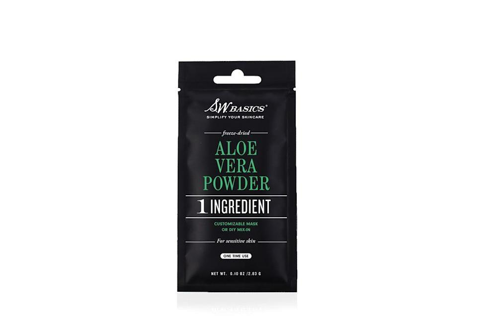 """<h3><strong>S.W. Basics</strong> Aloe Vera Powder</h3> <p>Dr. Mudgil often gives patients who suffer from bikini rash a mild hydrocortisone lotion to apply right after shaving. """"Aloe gels and creams are also helpful,"""" he says. This genius aloe-leaf powder can be mixed with water to create a gel, or stirred in with chilled chamomile tea to make a soothing mask.</p> <br> <br> <strong>S.W. Basics</strong> Aloe Vera Powder Packet, $7.99, available at <a href=""""https://store.swbasicsofbk.com/products/aloe-vera-packet"""" rel=""""nofollow noopener"""" target=""""_blank"""" data-ylk=""""slk:S.W. Basics"""" class=""""link rapid-noclick-resp"""">S.W. Basics</a>"""
