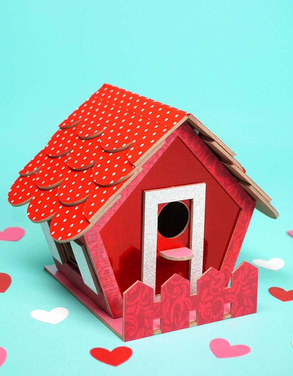 """<p>If it's welcoming enough for birds, then it's bound to have a similar effect on all the valentines. </p><p><em><a href=""""https://www.happinessishomemade.net/birdhouse-valentine-card-box/"""" rel=""""nofollow noopener"""" target=""""_blank"""" data-ylk=""""slk:Get the tutorial at Happiness is Homemade »"""" class=""""link rapid-noclick-resp"""">Get the tutorial at Happiness is Homemade »</a></em></p>"""