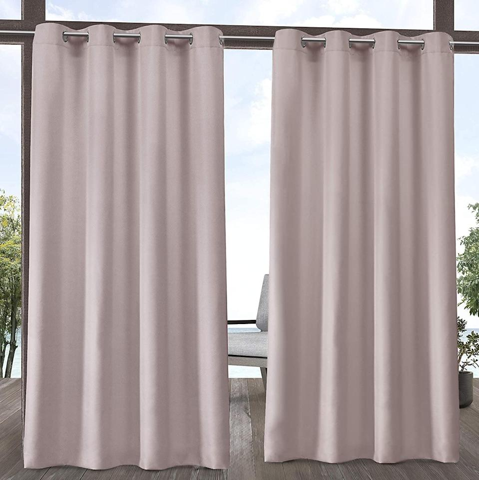 <p>This <span>Exclusive Home Curtains Indoor/Outdoor Solid Cabana Grommet </span> ($31) is ideal for porches or cabanas where you need to block out the sun.</p>