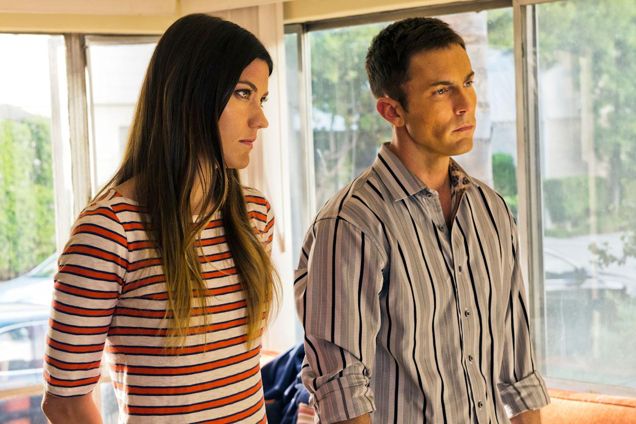 "Jennifer Carpenter as Debra Morgan and Desmond Harrington as Joey Quinn in the ""Dexter"" Season 8 episode, ""Make Your Own Kind of Music."""