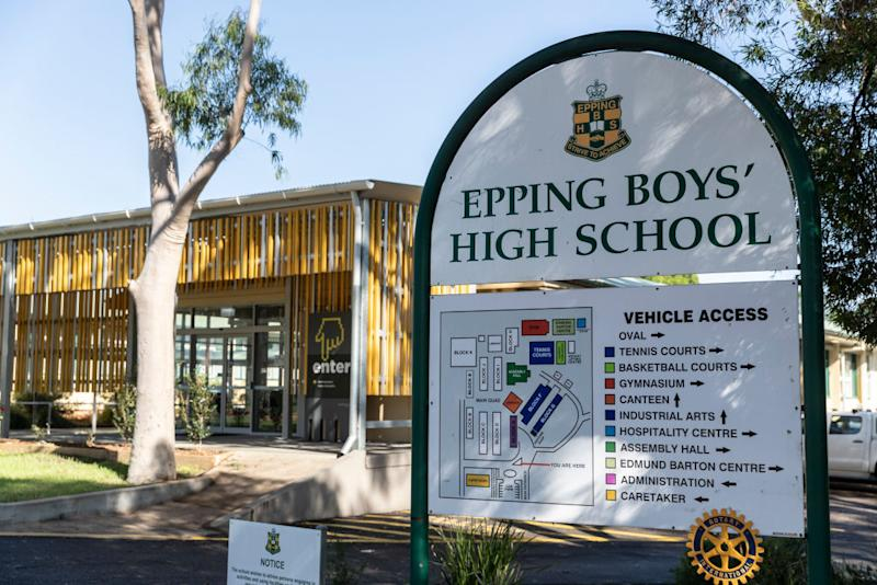 Epping Boys' High School is pictured.