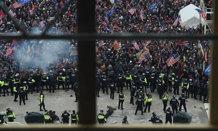 <span>Photograph: Olivier Douliery/AFP/Getty Images</span>