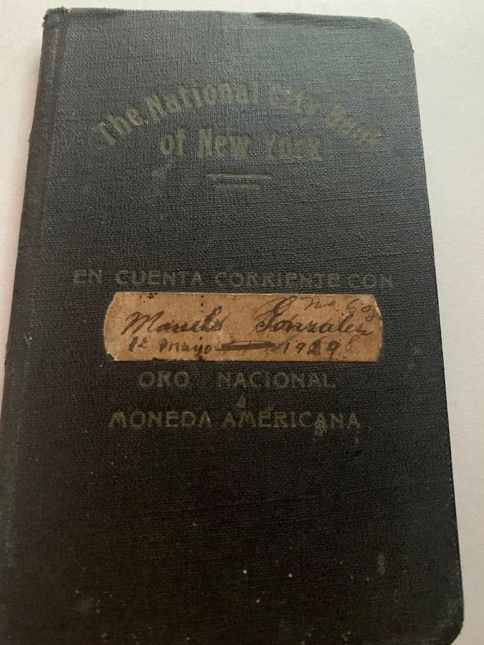 One of the notebooks that my great grandfather kept over decades.