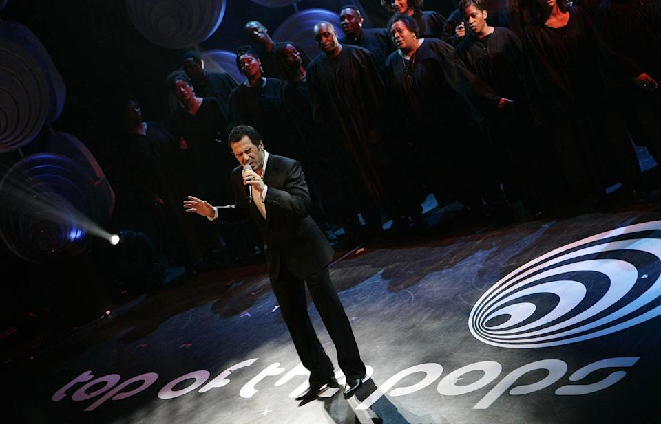 X-Factor winner, Steve Brookstein performs.   (Photo by Edmond Terakopian - PA Images/PA Images via Getty Images)