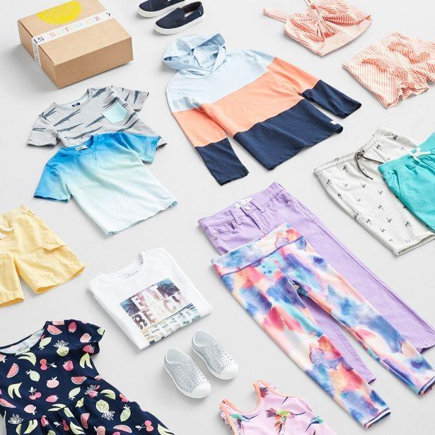 """<p>Answer some questions about your kids' styles and sizes, and a box will arrive with 8–12 pieces that they can choose — <strong>you just pay for what you keep</strong>, and you pay a $20 styling fee that gets applied to whatever you buy. The items in the box usually stay in the $10 to $35 range, so they won't fall in love with something you'd hate to pay for.</p><p><em>$20 styling fee per box.</em><br><em>Ages: 2–14</em></p><p><a class=""""link rapid-noclick-resp"""" href=""""https://go.redirectingat.com?id=74968X1596630&url=https%3A%2F%2Fwww.stitchfix.com%2Fkids&sref=https%3A%2F%2Fwww.goodhousekeeping.com%2Flife%2Fg5093%2Fsubscription-boxes-for-kids%2F"""" rel=""""nofollow noopener"""" target=""""_blank"""" data-ylk=""""slk:BUY NOW"""">BUY NOW</a> </p>"""