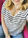 "<p><strong>Item:</strong> <span>EveryWear Striped Slub-Knit Tee</span> ($8, originally $15)<br> <strong>What our editor said:</strong> ""They check all my boxes and the prices can't be beat. Most of the brand's T-shirts come in sizes XS-XXL and types regular, tall, and petite. The designs are tag-free, so there's no annoying itchiness at your neck or side. The fabric is soft and relaxed, but not flimsy or thin. These tees are all-around winners."" - MCW</p> <p>If you want to read more, here is the <a href=""https://www.popsugar.com/fashion/best-cheap-striped-tee-47448870"" class=""link rapid-noclick-resp"" rel=""nofollow noopener"" target=""_blank"" data-ylk=""slk:complete review"">complete review</a>.</p>"