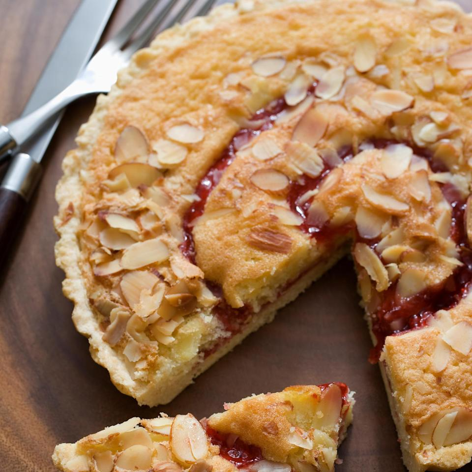 """<p>You won't need to head to the <a href=""""https://www.thedailymeal.com/best-dessert-shop-place-america-every-state?referrer=yahoo&category=beauty_food&include_utm=1&utm_medium=referral&utm_source=yahoo&utm_campaign=feed"""" rel=""""nofollow noopener"""" target=""""_blank"""" data-ylk=""""slk:best dessert shop in your state"""" class=""""link rapid-noclick-resp"""">best dessert shop in your state</a> if you bake this streusel-topped cranberry pear tart. The sweet pear and the bitter cranberry pair beautifully.</p> <p><a href=""""https://www.thedailymeal.com/recipe/streusel-topped-cranberry-pear-tart?referrer=yahoo&category=beauty_food&include_utm=1&utm_medium=referral&utm_source=yahoo&utm_campaign=feed"""" rel=""""nofollow noopener"""" target=""""_blank"""" data-ylk=""""slk:For the Streusel Topped Cranberry Pear Tart recipe, click here."""" class=""""link rapid-noclick-resp"""">For the Streusel Topped Cranberry Pear Tart recipe, click here.</a></p>"""